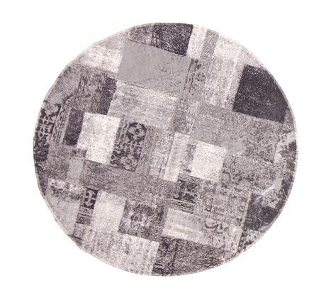 tapis rond 160 cm dalyan rond noir gris blanc