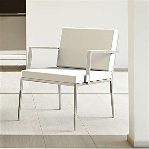 petit fauteuil design cuir blanc nicky sur cdc design