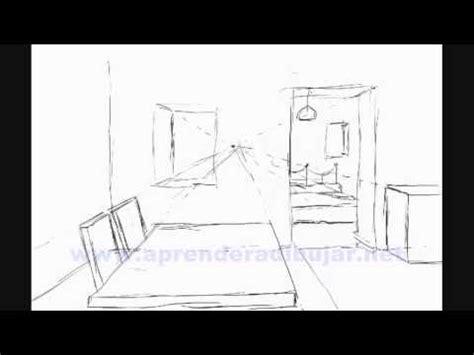 dessin de l interieur d une maison en perspective et chambre comment dessiner