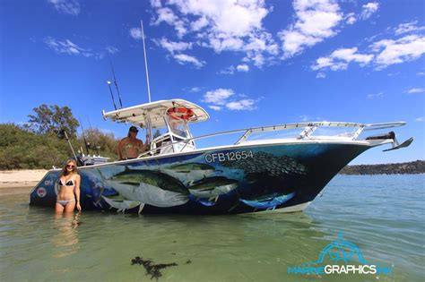 Custom Fishing Boat Graphics by Wrap Gallery Marine Graphics Ink