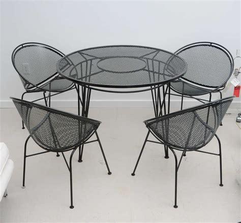 vintage salterini wrought iron patio set at 1stdibs