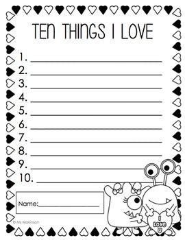 February Printables  Kindergarten Literacy And Math By Ms