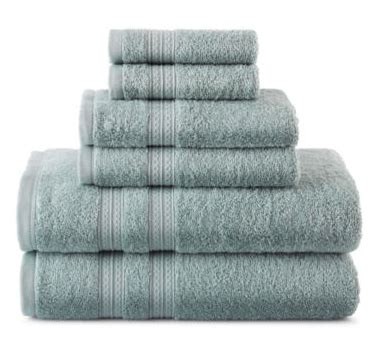 jcpenney home expressions 6 bath towel set only 17 99 reg 48