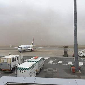 Gale force wind wreaks havoc at airport | George Herald
