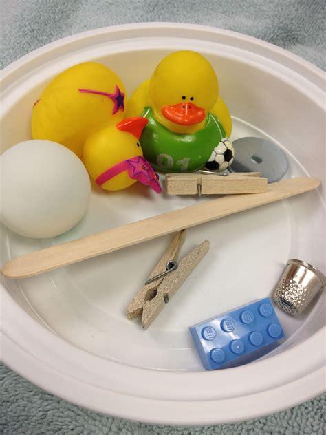 pin sink or float worksheet on