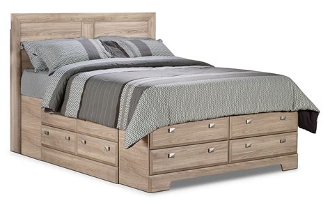Yorkdale Light Queen Storage Bed  The Brick