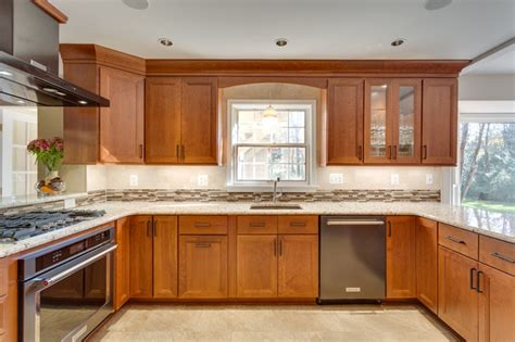 woodharbor provence cherry kitchen cabinets by