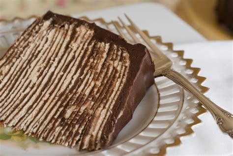 chocolate crepe cake step 3 chocolate ganache