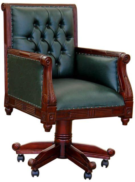fauteuil de bureau anglais chesterfield vert meubles de style fauteuils de style et tr 244 nes