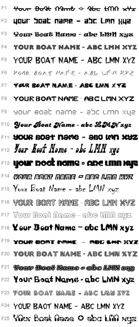 Boat Names Female by Boat Name And Lettering Fonts