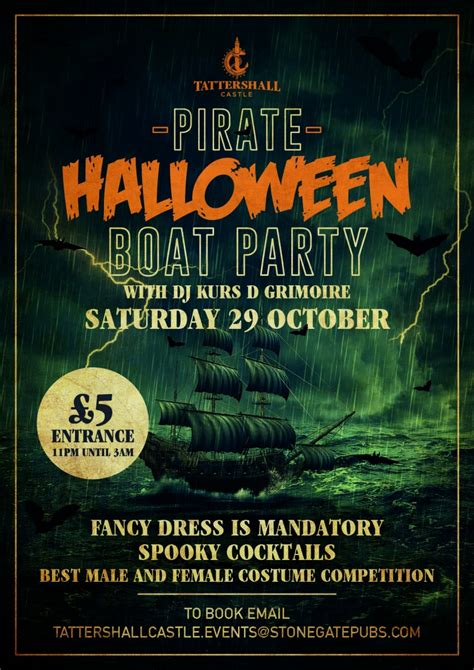 Party Boat East London by Halloween Boat Party The Tattershall Castle London