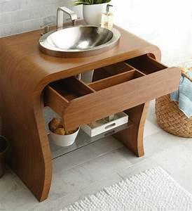 Waschtischplatte Mit Schublade : 70 einmalige modelle von waschtisch aus holz ~ Markanthonyermac.com Haus und Dekorationen