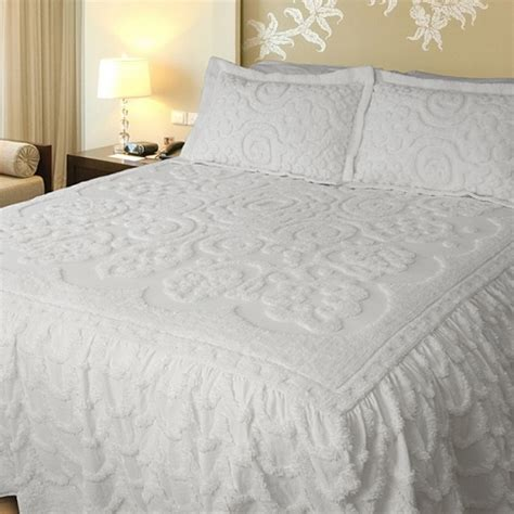 lara white king size bedspread by lamont limited