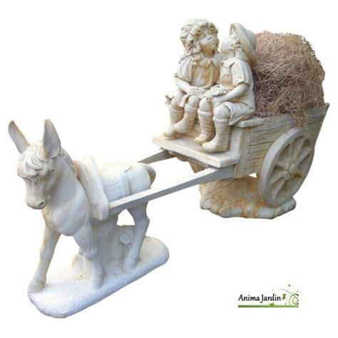 statue en reconstitu 233 e cal 232 che aux enfants 226 ne achat vente d 233 coration de jardin