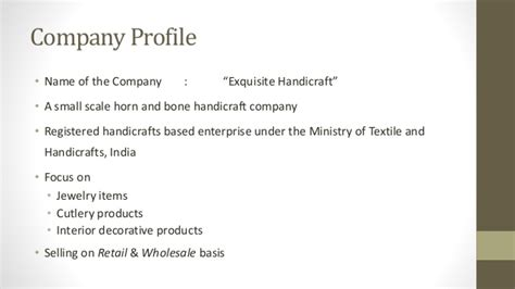 Business Plan On Exquisite Handicraft