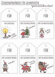 Geschenkkarten Zum Ausdrucken : free printables geschenkanh nger f r weihnachten ~ Markanthonyermac.com Haus und Dekorationen