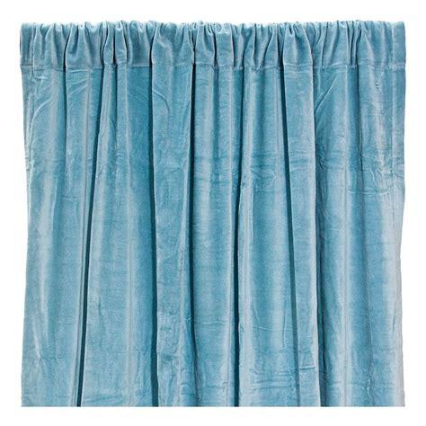 rideau occultant en velours de coton bleu gris liv interior