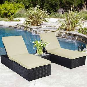 Lounge Sofa Outdoor : gym equipment outdoor chaise lounge chair patio furniture set wicker rattan black 3 piece ~ Markanthonyermac.com Haus und Dekorationen