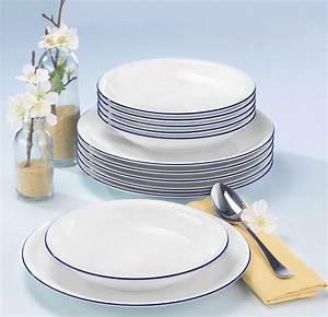 Geschirr Blau Weiß : seltmann weiden tafelservice compact blaurand 12 teilig online kaufen otto ~ Markanthonyermac.com Haus und Dekorationen