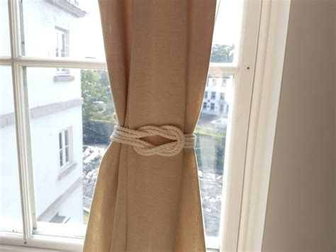 Cotton Rope Double Square Knot Curtain Tiebacks Small Knot Shabby Chic Nautical Style Beach Short Curtains Hanging On A Velux Window How To Hang Door Drop Ready Made Australia Kawneer 1600 Ut Curtain Wall Red Eyelet Argos Blackout Small Windows Ideas