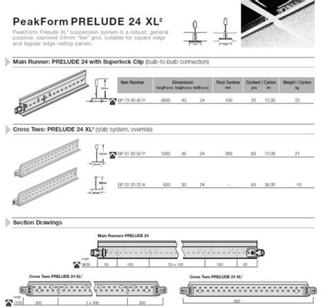 armstrong peakform prelude bar grid ceiling distributors