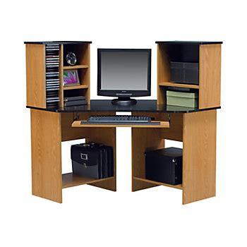 altra furniture laminate corner computer desk 47 1316 h x 42 w x 42 716 d oak by office depot