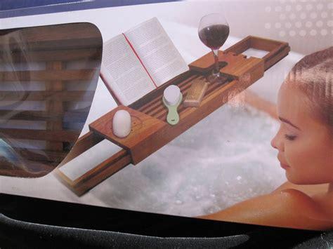blissful bath teak tub tray caddy