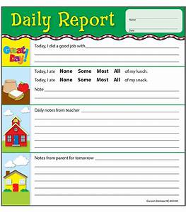 Daily Report Notepad Grade PK-2