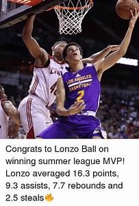 LOS ANGELES BASKETBAL Congrats to Lonzo Ball on Winning ...