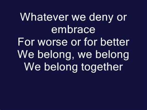 we belong pat benatar official lyrics