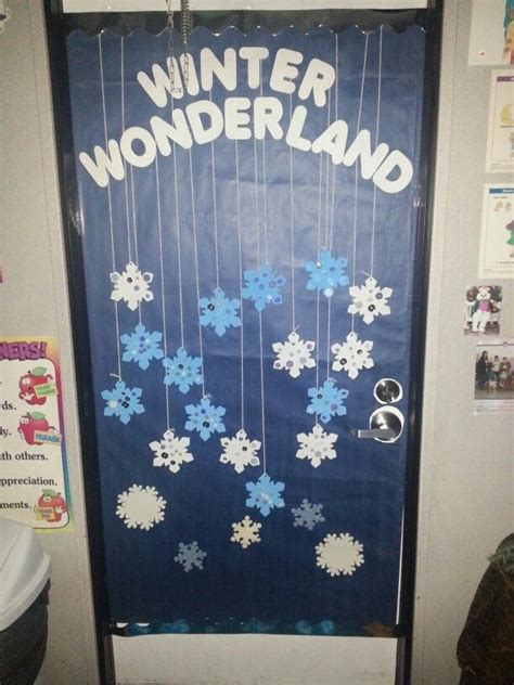 winter classroom theme for our door at the