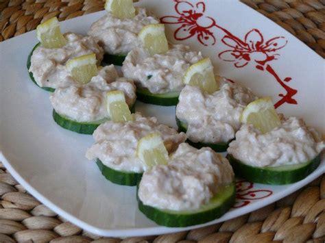 recette canap 233 s de concombre 224 la mousse de thon