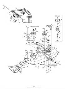 troy bilt 13wm77ks011 pony 2015 parts diagram for mower deck 42 inch