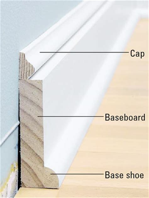 we tried removing exisitng baseboards in or house to add