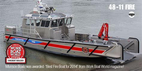 X Fire Boat by Munson 48 Series Custom Welded Aluminum Boats Landing