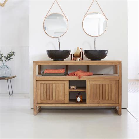 meuble salle de bain en teck meubles colonial duo tikamoon