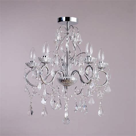 5 light modern in chrome decorative bathroom chandelier lighting litecraft ebay