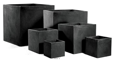 bac cube fibre de terre noir pour ext 233 rieur terrasse et jardin du site artificielles