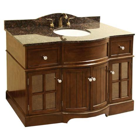 granite top 48 inch single sink bathroom vanity 13713466 overstock shopping great deals