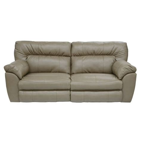 catnapper nolan leather power reclining sofa in putty 64041123311303311