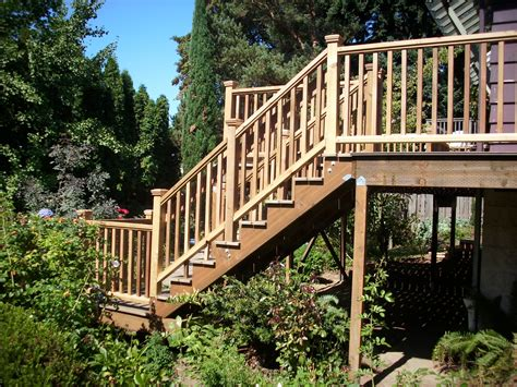 timbertech walnut deck with cedar railing deck masters llc portland or