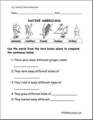 Native American Worksheets Calleveryonedaveday