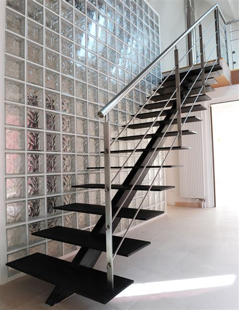 escalier 224 limon central droit descente escalier retaining wall patio stairways