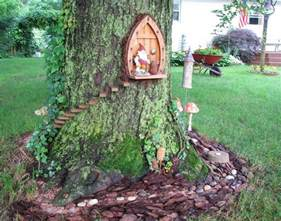 Gnome Homes For Gardens gnome home front door same tree as gnome home back door