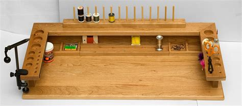 fly fishing tying bench by bswoodworks on etsy