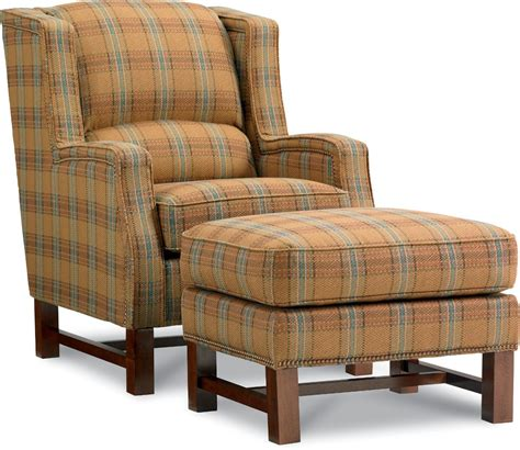 la z boy chairs cosmopolitan transitional wing chair and ottoman with nailhead studs morris