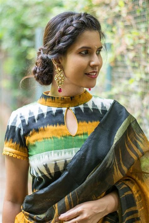 Boat Neck Readymade Blouses Online by 30 Latest Cotton Sarees Blouse Designs For 2018 2019