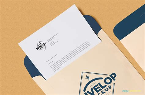 Free Envelope Psd Mockup + Letterhead Mockup