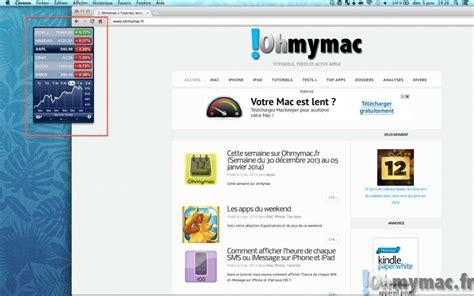 comment afficher des widgets sur le bureau avec os x ohmymac