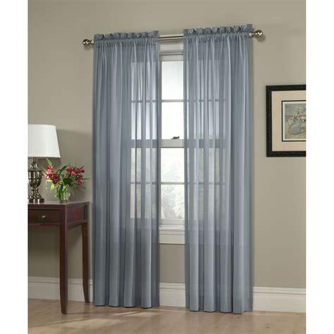 smith slate blue georgette semi sheer window panel